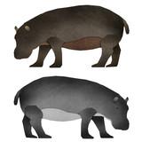 Papercut Hippopotamus Recycled Paper poster