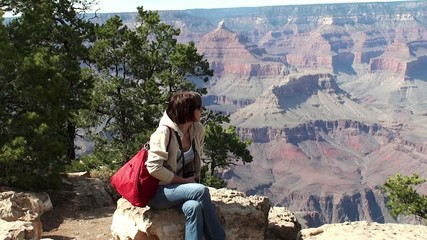 Tourist in the Grand Canyon (Arizona, USA)