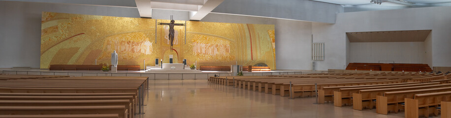 interior of the new church in Fatima Sancturay