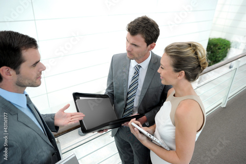 Business people meeting for contract agreement