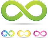 Vector illustration of sleek style Infinity Symbols
