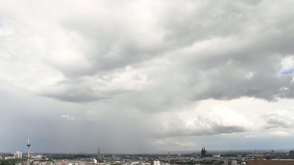Thunderstorm approaching Cologne City