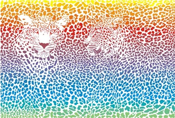 leopard rainbow pattern background