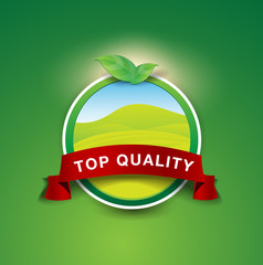 Top quality nature product label