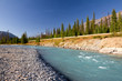 Beautiful landscape with Kootenay River and Canadian Rockies, Ko