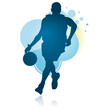 Dribbling Basketball Player