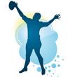Jumping Rugbyman