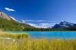 Beautiful Canadian Landscape: Lake with turquoise blue water, Ro