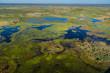 Leinwandbild Motiv The Okavango Delta from the air