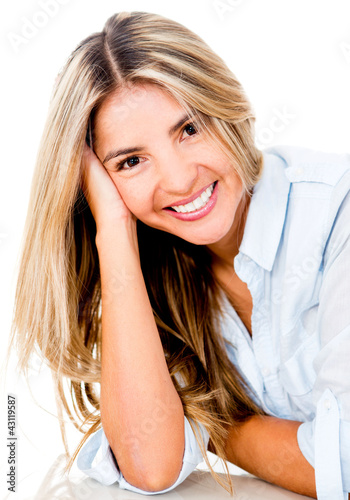 Cute woman smiling