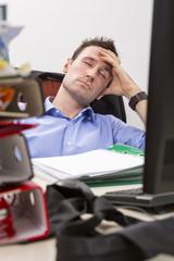Falling  asleep at office