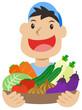 野菜と青年