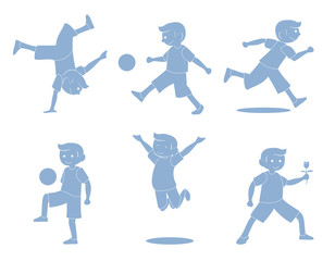 Boys Activity silhouette
