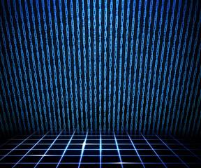 Blue Matrix Room