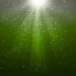Gray-Green magic rays background