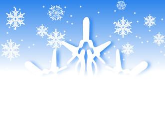 flocons de neige et christaux de glace