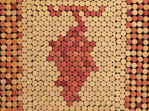 Fototapeta Used Wine Corks Grape Cluster Pattern for Background