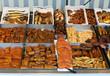 Fischspezialitäten auf dem Markt