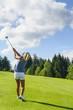 eleganter Golfschwung