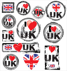 Great Britain grunge ink rubber stamp