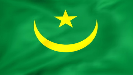 Developing the flag of Mauritania