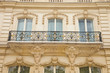 Haus mit Balkon auf der Champs Elysees in Paris