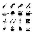 Kitchen utensils icons