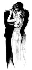 coppia vintage che si bacia