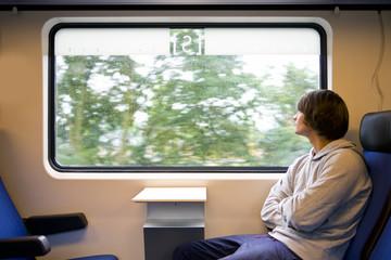 Train and rain
