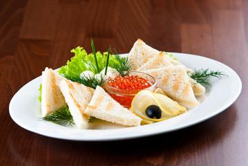 Caviar with toasts
