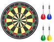 darts vector illustration