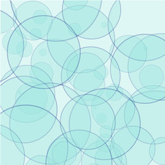 Background - abstract blue circles