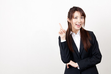asian businesswoman thinking