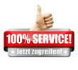 100% Service! Button, Icon