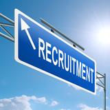 Recruitment concept. poster