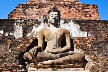 Old Buddha Status at Sukhothai, Thailand
