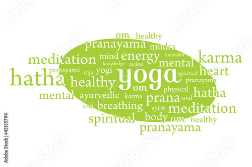 Yoga abstract words