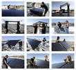 mosaïque montage de panneaux solaires