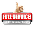 Full Service! Alles aus einer Hand! Button, Icon