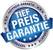 """Button Banner """"Tiefpreis-Garantie"""" blau/silber"""