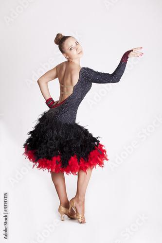 Professional dancer posing