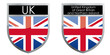 United Kingdom flag emblem
