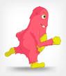 Funny Monster. Running.