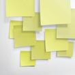 Yellow sticky notes. Abstract background, vector, EPS10