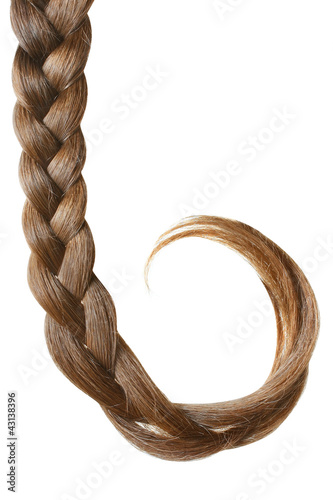 Braid isolated on white.