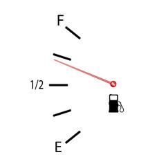 fuel gauge vector illustration with symbol