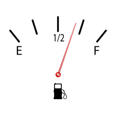 fuel gauge with symbol vector illustration