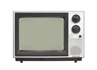 1980's Vintage Television Set Isolated