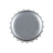 Silver bottle cap isolated on white with clipping path