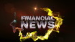 FINANCIAL NEWS Text in Particle (Double Version) Red - HD1080